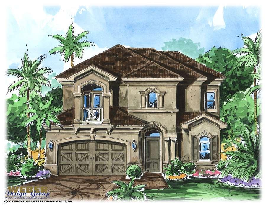 Ravello House Plan Mediterranean Villa Home