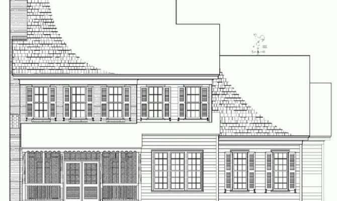 Rear House Plans Pinterest