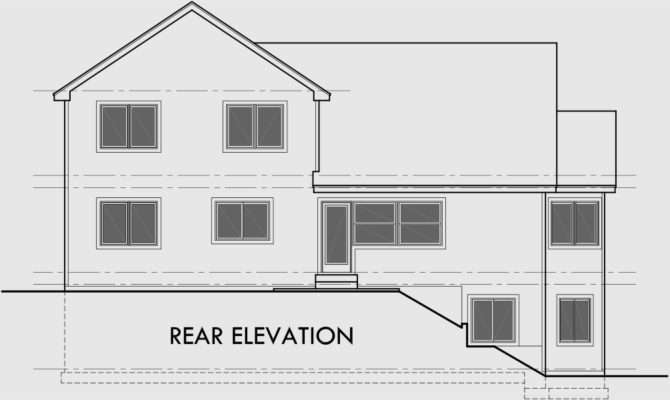 Rear Sloping Lot House Plans