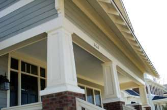 Recessed Panel Square Tapered Pvc Porch Columns