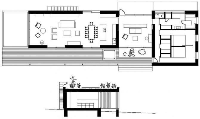 Rectangular Wooden Weekend Floor Plan House Plans