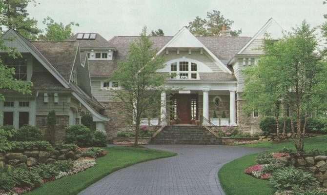 Red Door Home Stone Houses