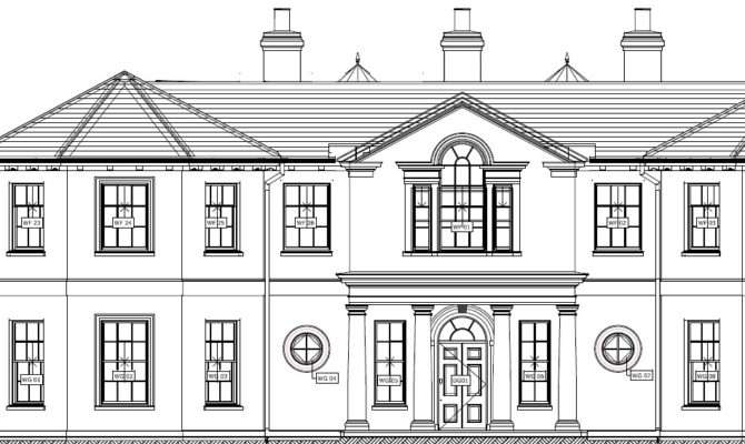 Regency Style House Plans Design
