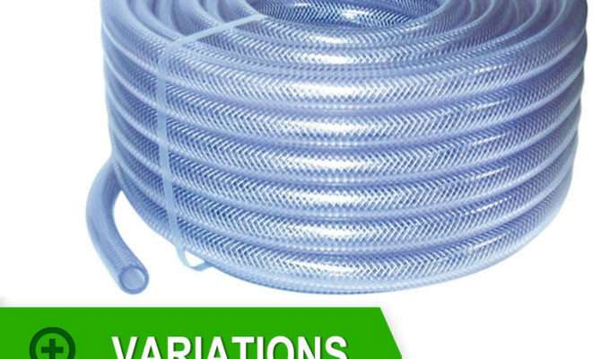 Reinforced Clear Pvc Braided Hoses Flexible Pipe Air
