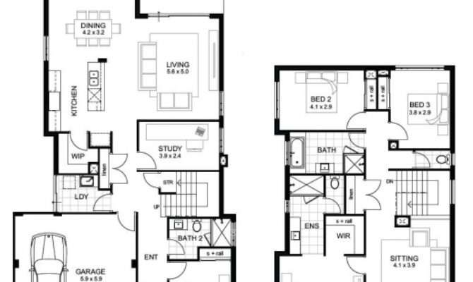 Remarkable Story House Floor Plans Lovely Double Storey
