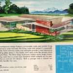 Remarkably Retro Mid Century Modern Illustration Floor Plan
