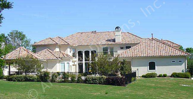 Renaissance House Plans Plan Texas Style Front Exterior