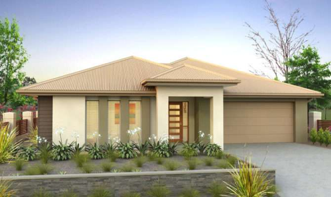 Rendered Brick House Exterior Real