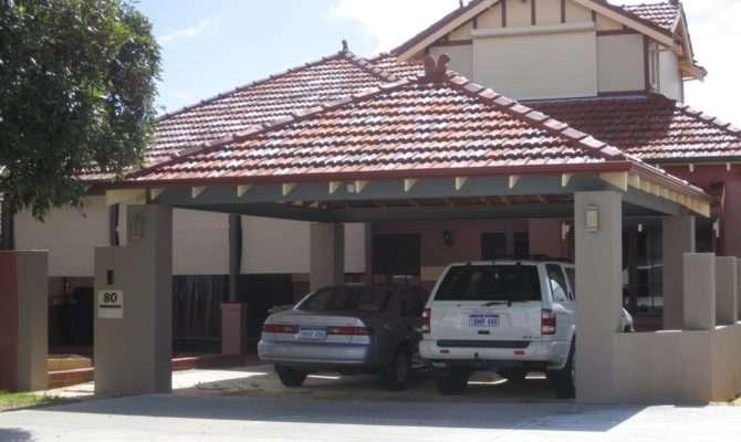 Rendered Piers Pfc Beams Tile Roof Exposed Eaves