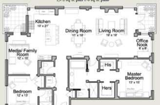 Residential Floor Plan Houses