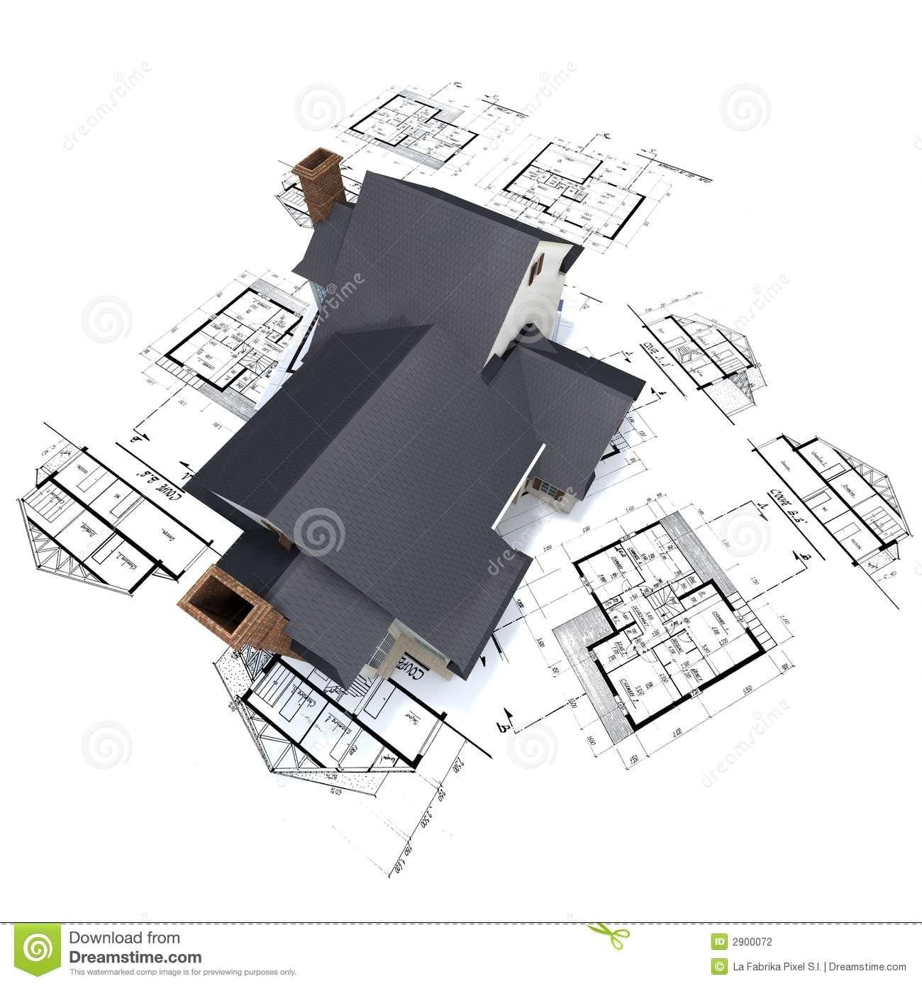 Residential House Plans Illustration