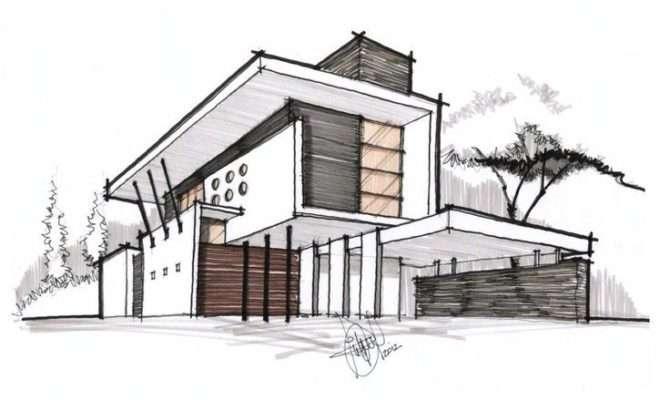 Result Contemporary House Design Exterior Sketch