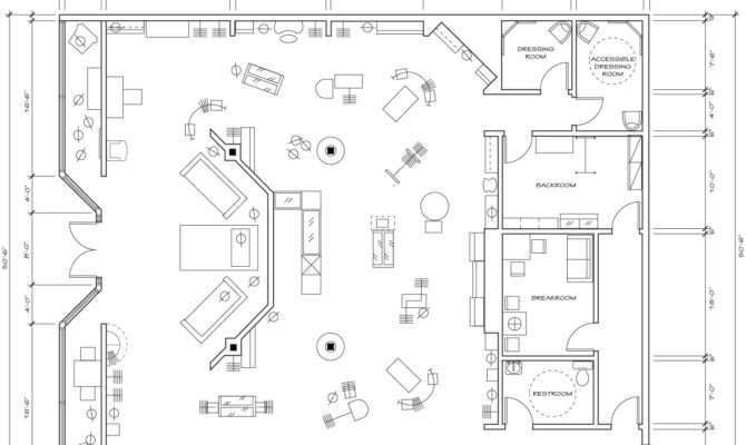 Retail Store Floor Plan Design