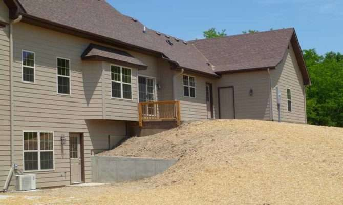 Retaining Walls Walk Out Basement Details Custom Homes