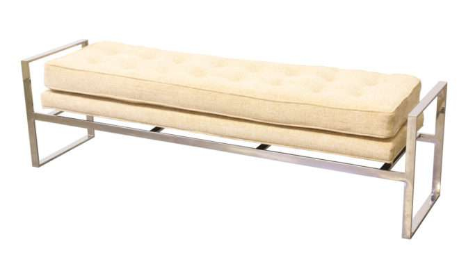 Review Mid Century Floating Chrome Tufted Bench Cancel Reply