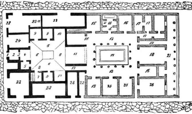 Roman Domus Floor Plan Ground House