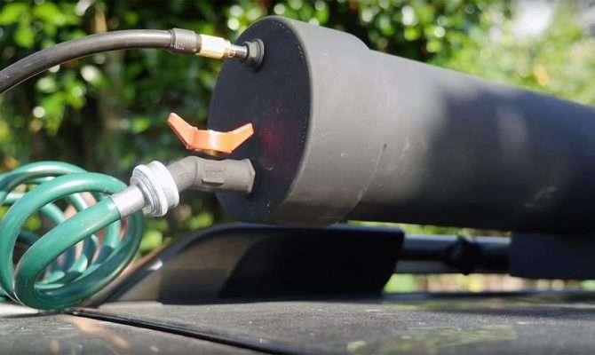 Roof Top Pressurized Solar Heated Shower Sprayer