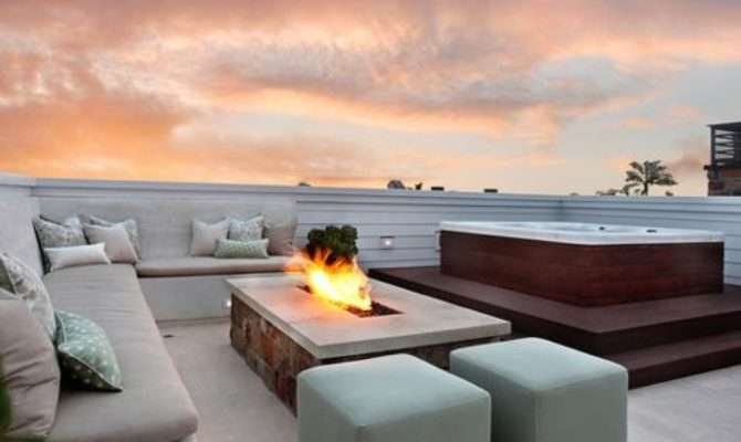 Rooftop Hot Tub Home Design Ideas Remodel Decor