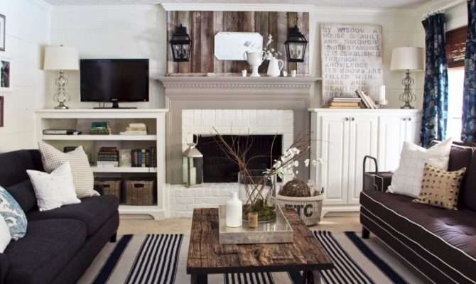 Room Reclaimed Wood Accents Contemporary Cottage Living