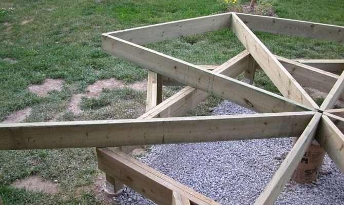 Round Deck Plans Build Step