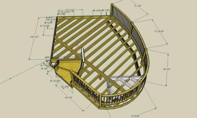 Round Deck Plans Circular Curved