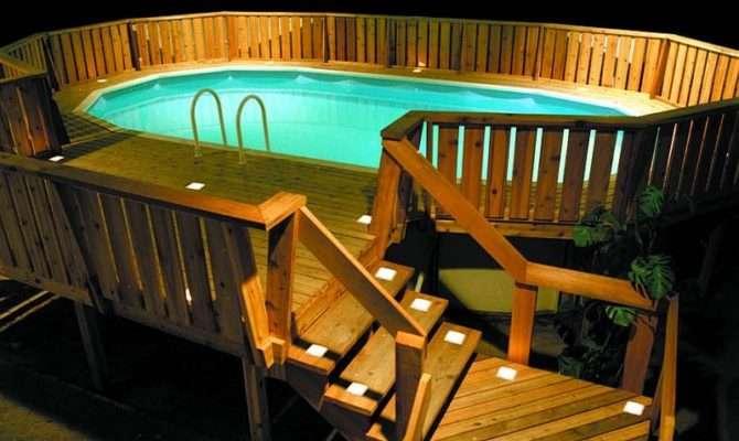 Round Deck Plans Pool Foot