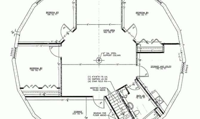 Round House Plans Escortsea Inside Floor