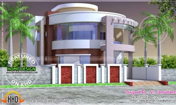 Round Style Contemporary House Design Kerala Home Floor