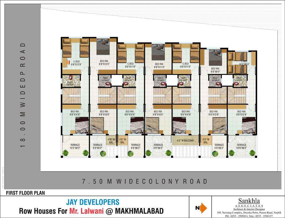 Row House Plans Joy Studio Design Best