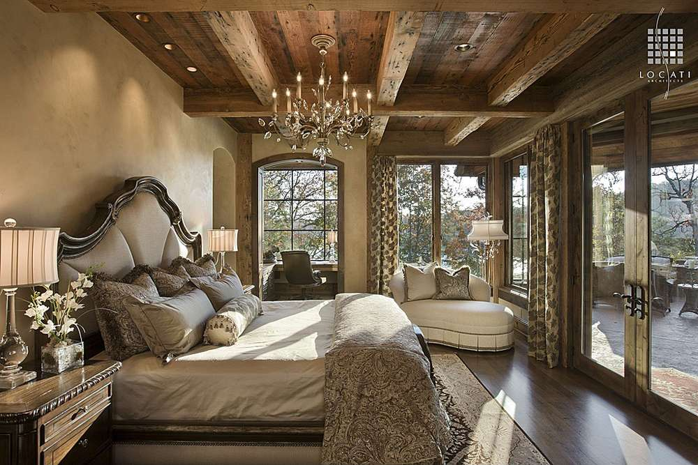 Rustic Bedroom Locati Architects Photographed Roger Wade Studio