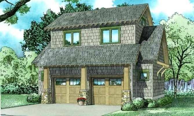 Rustic Carriage House Plan Loft