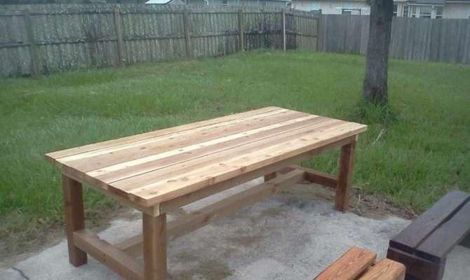 Rustic Cedar Farm House Table Foot