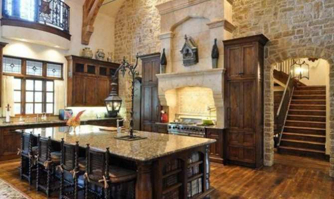 Rustic Gourmet Kitchens Homes Rich