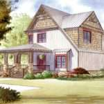 Rustic House Plan Wraparound Porch