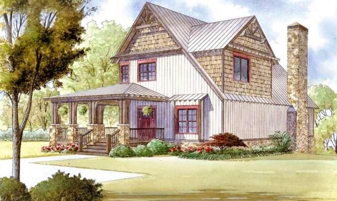 Rustic House Plan Wraparound Porch