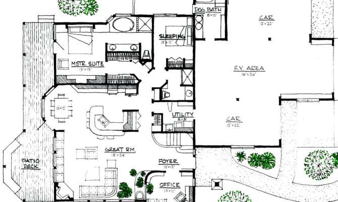 Rustic Lodge Space Efficient Solar Energy House Plan