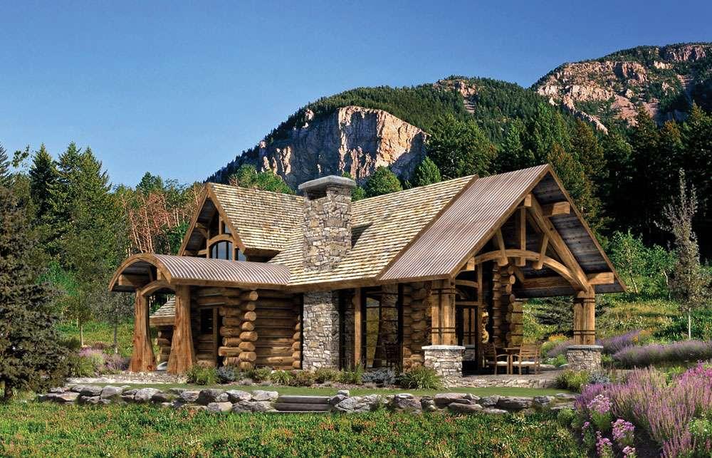 Rustic Log Home Tradition Modern Living