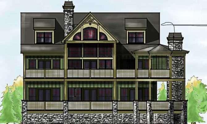 Rustic Mountain House Floor Plan Walkout Basement