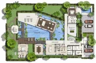 Saisawan Beach Villas Type Ground Floor Plan Architecture