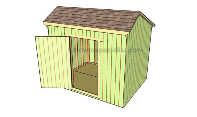 Saltbox Roof Framing Shed