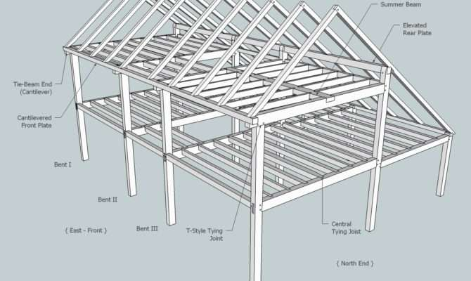 Saltbox Roof Framing Sheds Storage Shed Plans