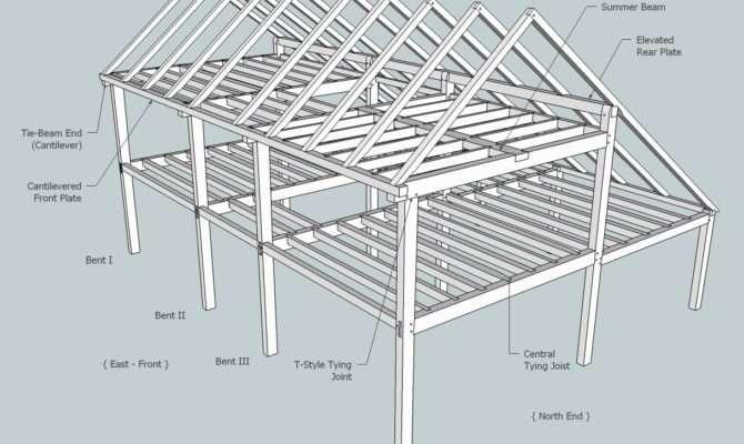 Saltbox Roof Framing Sheds Storage Shed Plans