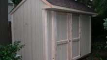 Saltbox Shed Plans Diy Garden Tool Roof Overhang Sided