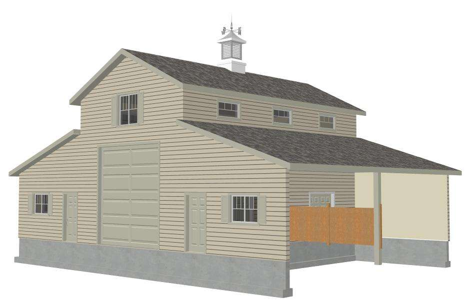 Sample Barn Plan Blueprints