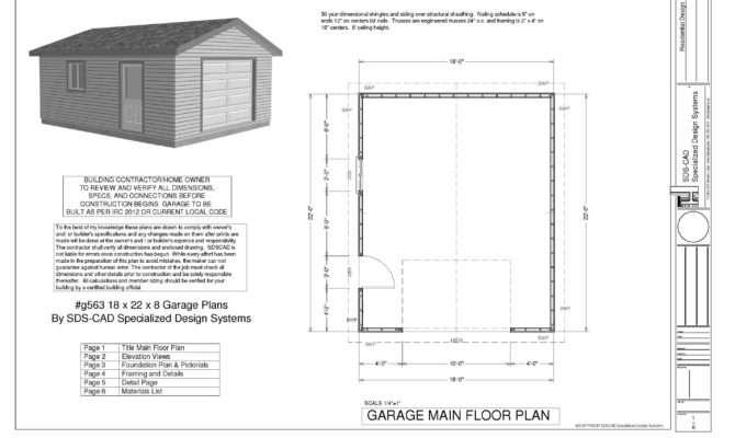 Sample Garage Plan