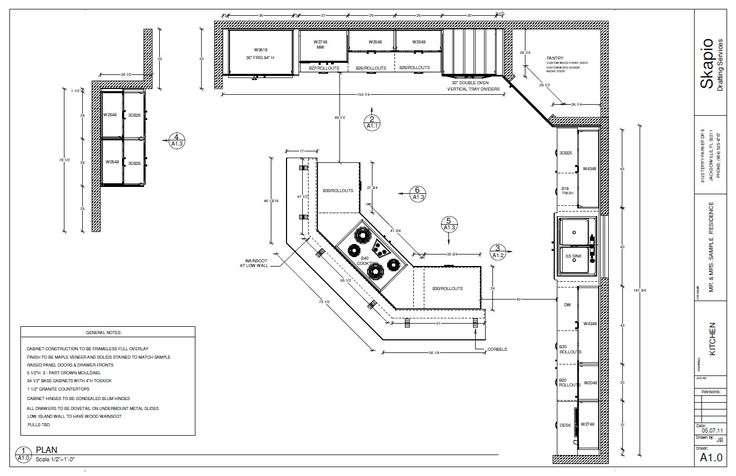 Sample Kitchen Floor Plan Kitchens Floorplans Houseplans