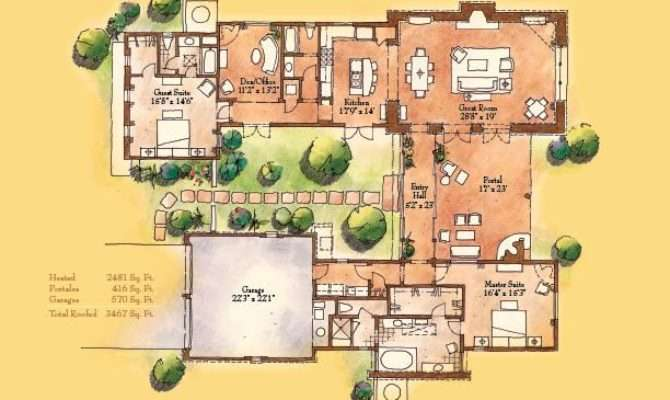 Santa Style Home Floor Plans Design