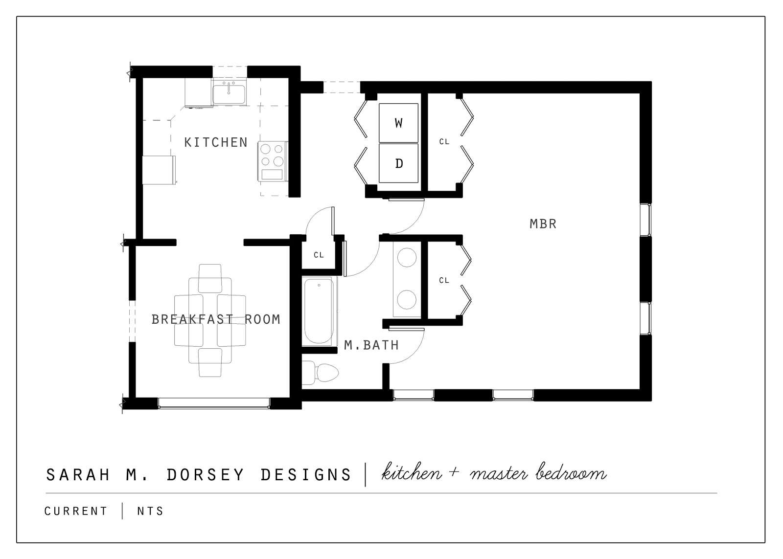 Sarah Dorsey Designs Proposed Kitchen Master Suite