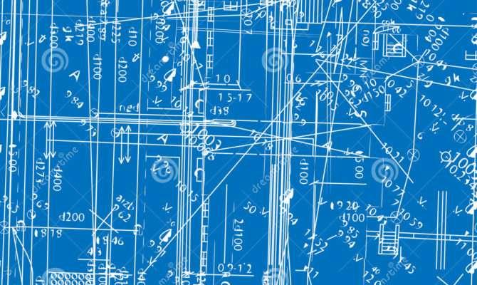 Seamless Simulating Engineering Blueprint Vector