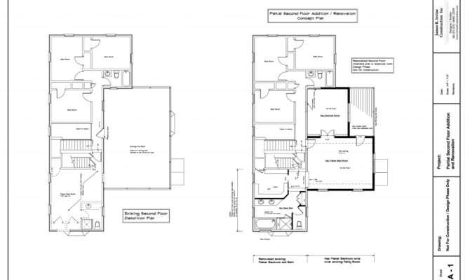 Second Floor Addition Plans Home Montgomery County Maryland